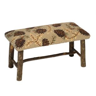 products northwoods pinecones hickory bench 150×150
