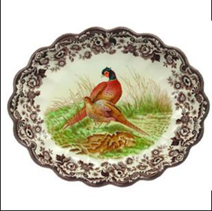 products pheasant oval flutted dish 150×150