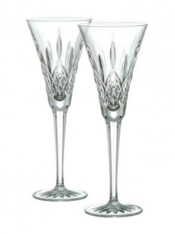 lismore toasting flute pair