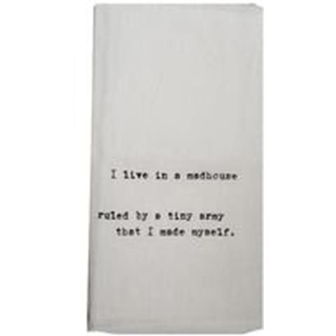 products i live in a madhouse towel
