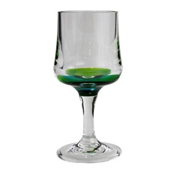 products 8 ounce blue wine glass