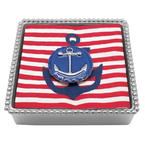 products blue anchor emblem cocktail napkin box
