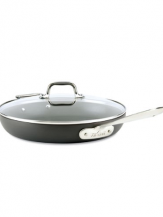 E inch h nonstick fry pan with lid