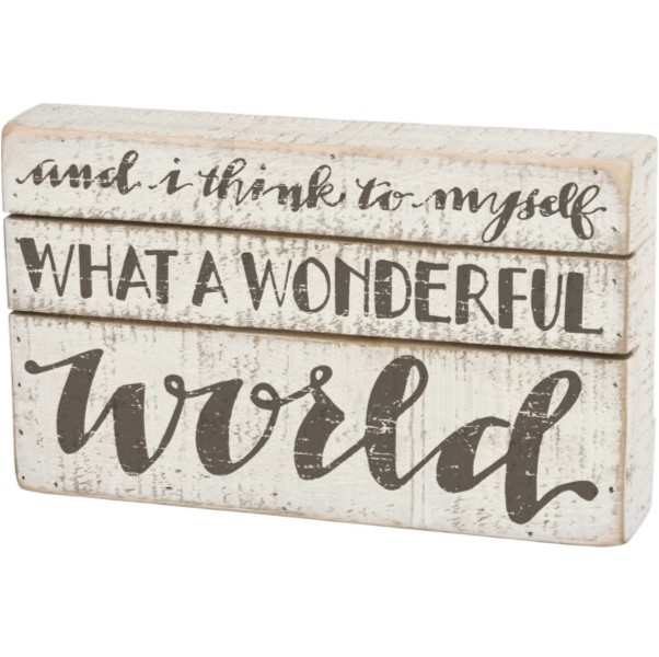 products what a wonderful world box sign 150×150