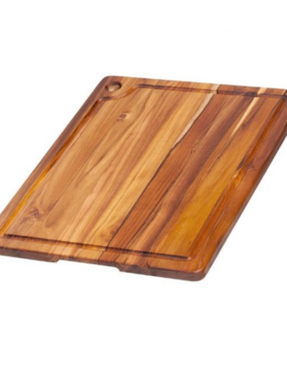 edge grain teak cutting board