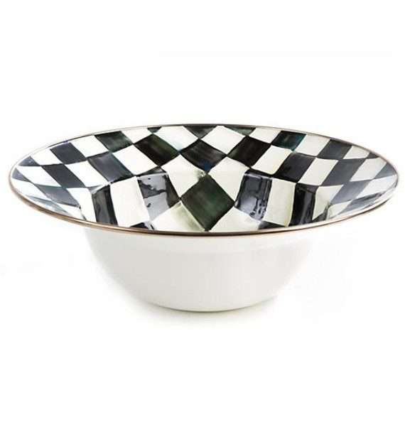 products courtly check enamel serving bowl 150×150
