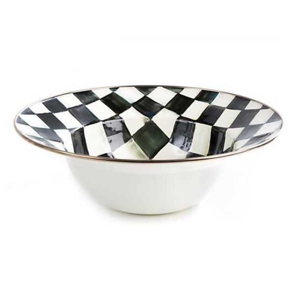 products courtly check enamel serving bowl 150x150