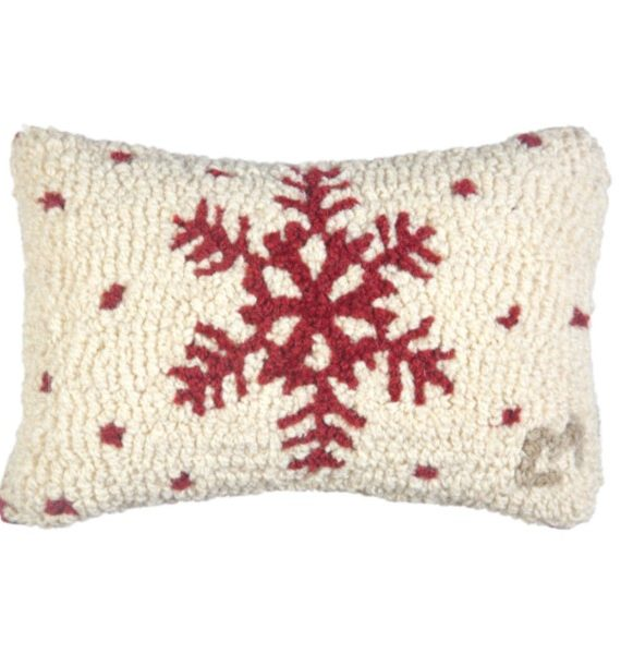 Red Flake Pillow