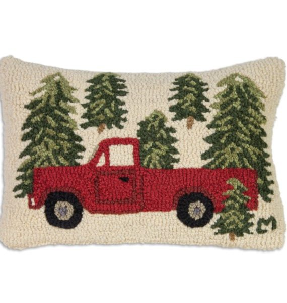 Truck In Trees Pillow