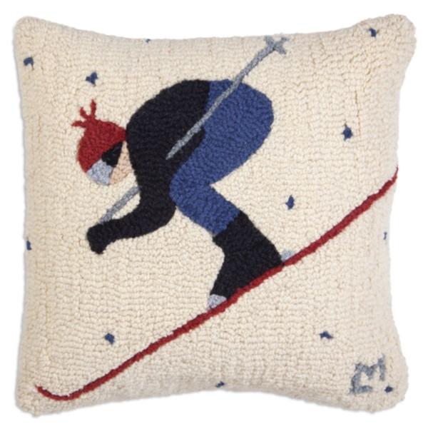 Whiteout Skier Pillow