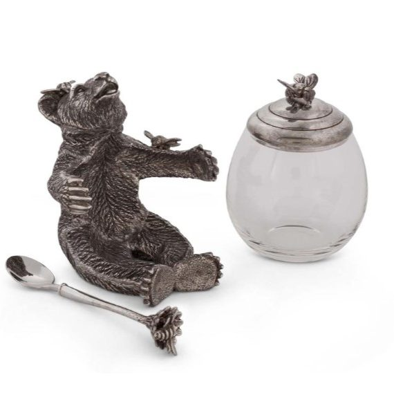 Pewter Honey Bear