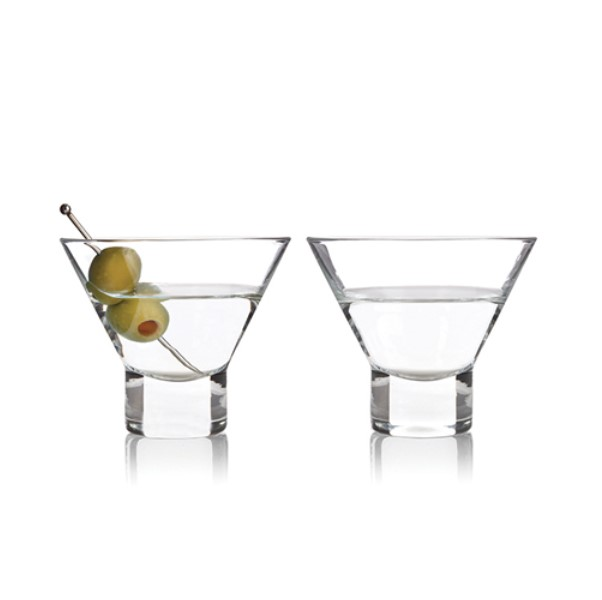 Stemless Martini pair