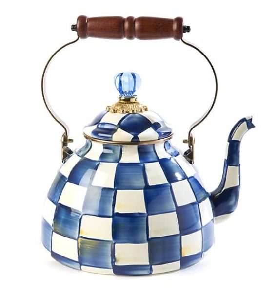 Royal check qt tea kettle