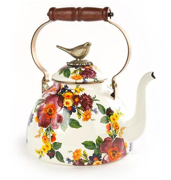 flower market qt kettle with bird