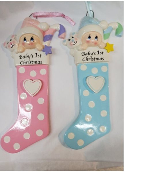 Baby First Christmas Stocking Ornament