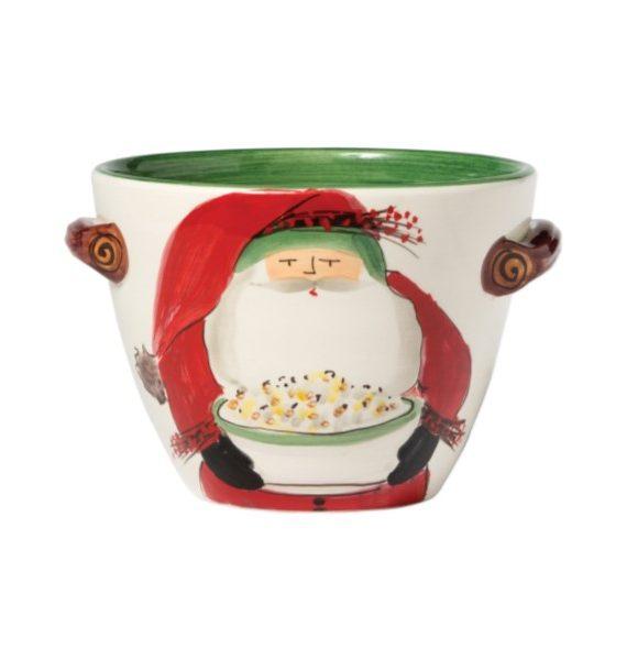 Old St Nick Deep Popcorn Bowl