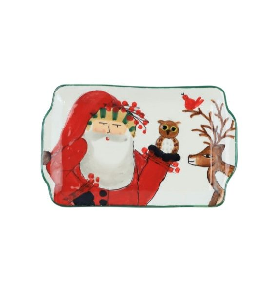 Old St Nick Limited Edition Rectangle Plate