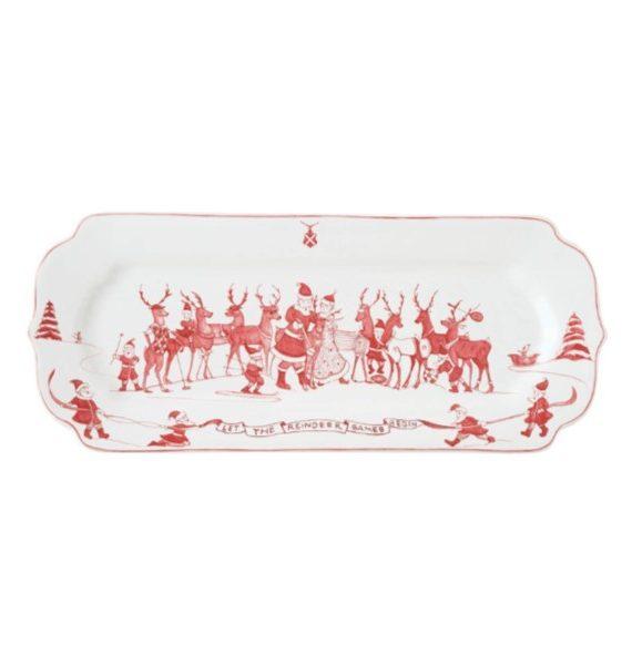 winter frolic hostess tray