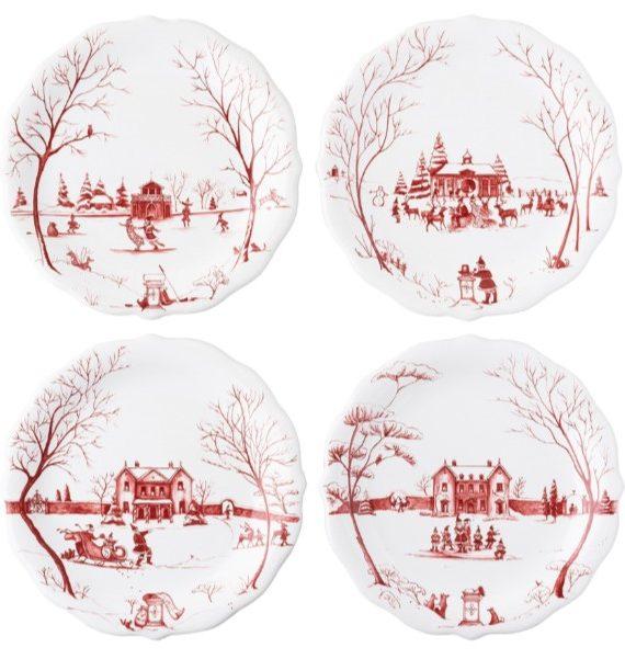 winter frolic santa plate