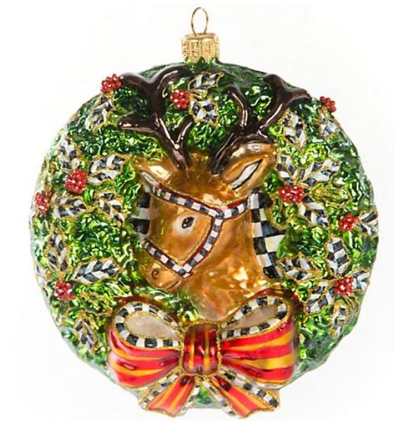 Deer Wreath Ornament