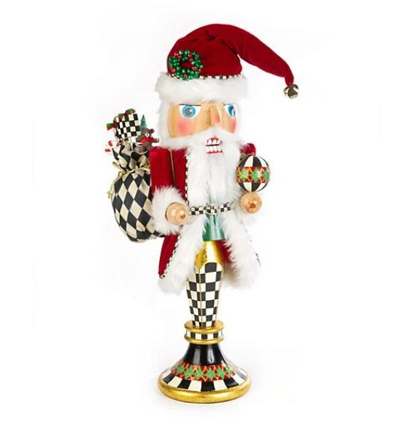 Father Xmas Pedistal Nutcracker in
