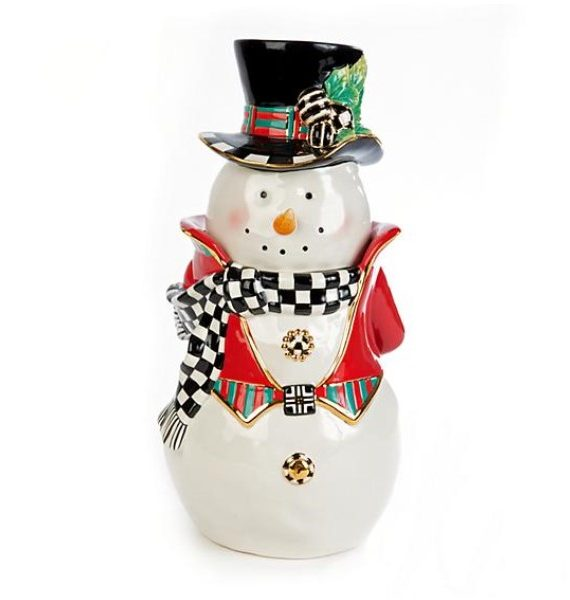 Tophat Snowman Cookie Jar