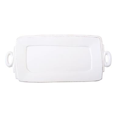 Lastra White Handled Rectangle Platter