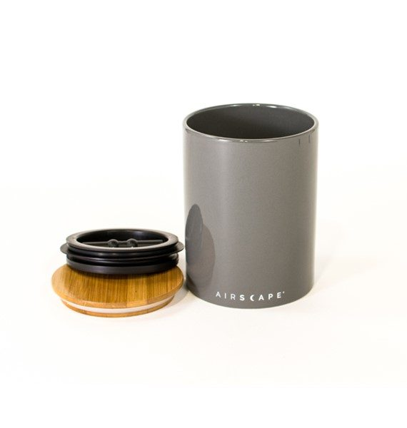 grey canister