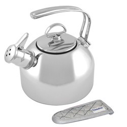 SL stainless kettle with Mitt