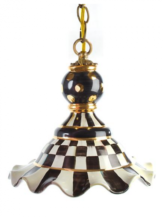 Courtly check pendant lamp
