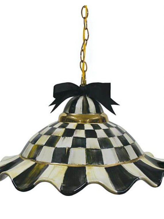 fluted hanging lamp courtly check