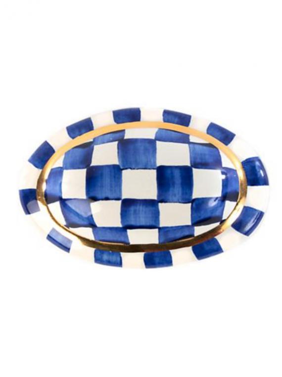 Royal check oval knob