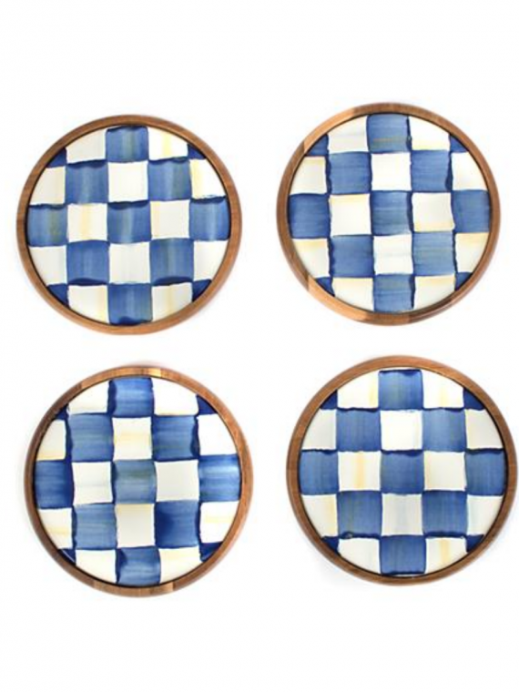 royal check coasters