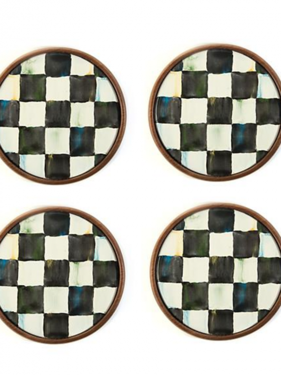 courtly check coasters