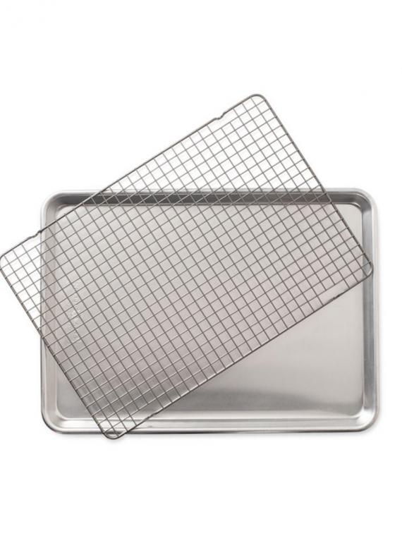 half sheet pan and rack set