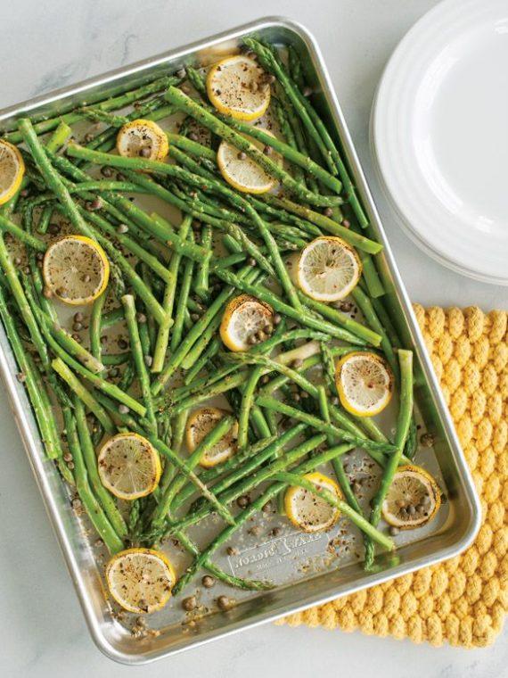 asparagus overhead slanted x