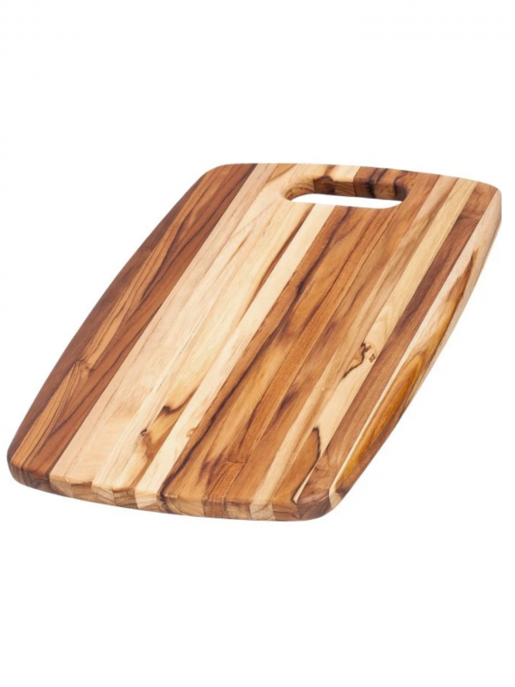 EDGE GRAIN TEAK BOARD WITH HANDLE