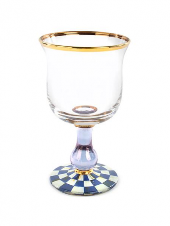 royal check water glass