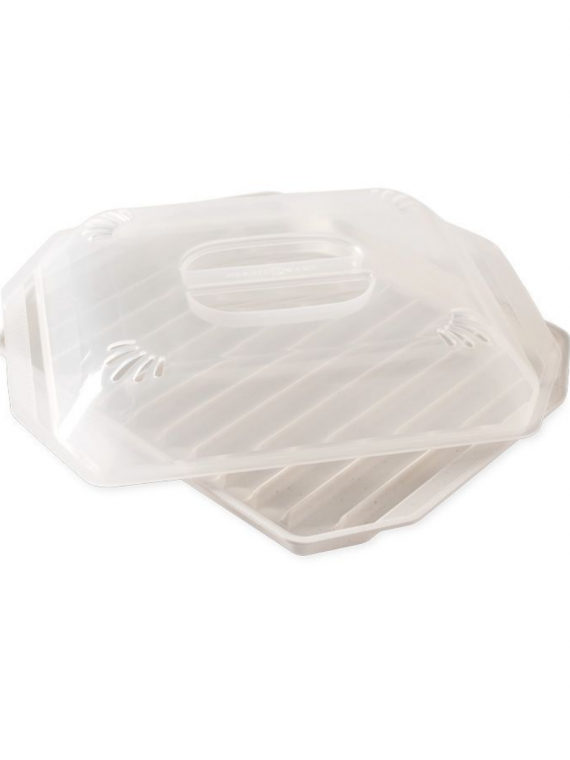 microwave compact bacon tray with lid