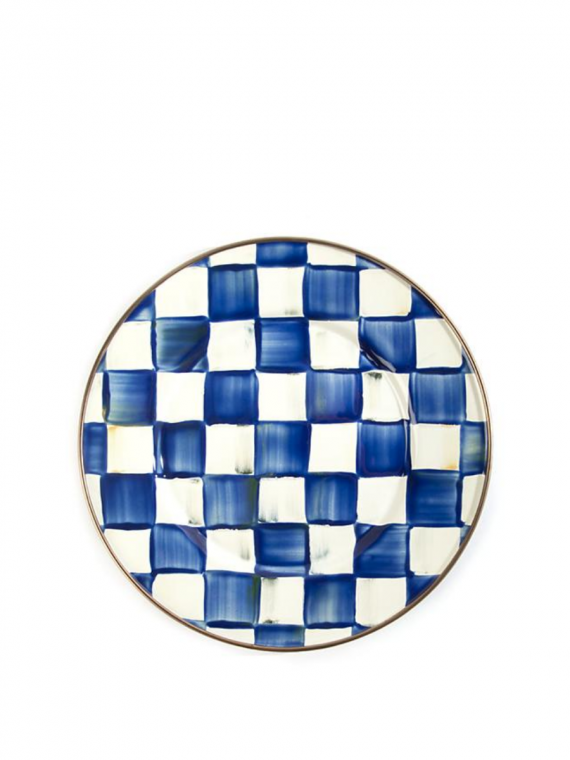 royal check salad plate