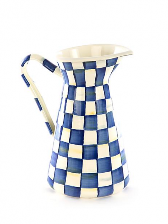 royal check large pitcher