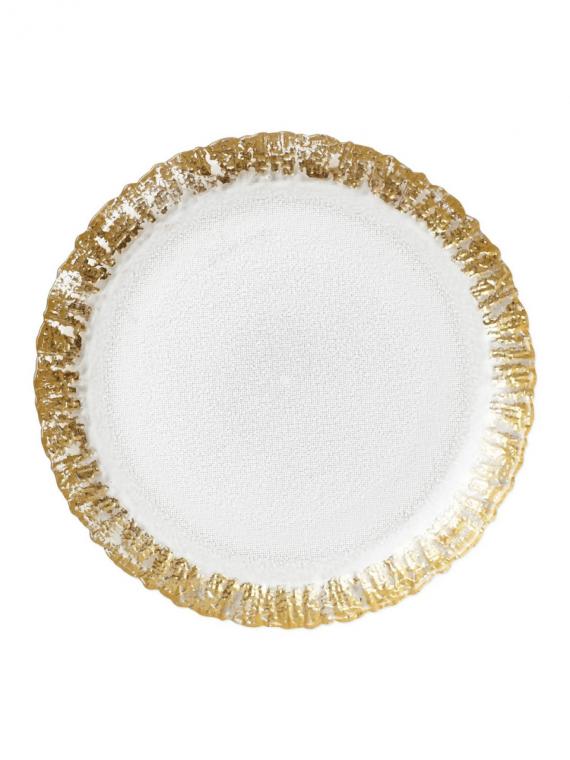 RUFOLO GOLD SALAD PLATE RUF