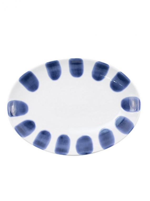 VSAN santorini dot small oval platter