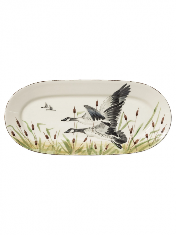 WDL GEESE SMALL OVAL PLATTER