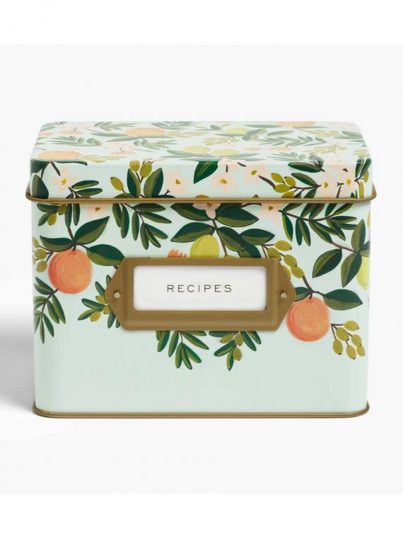 floral recipe box