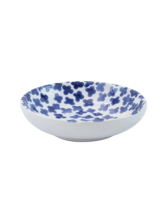 santorini flower condiment bowl