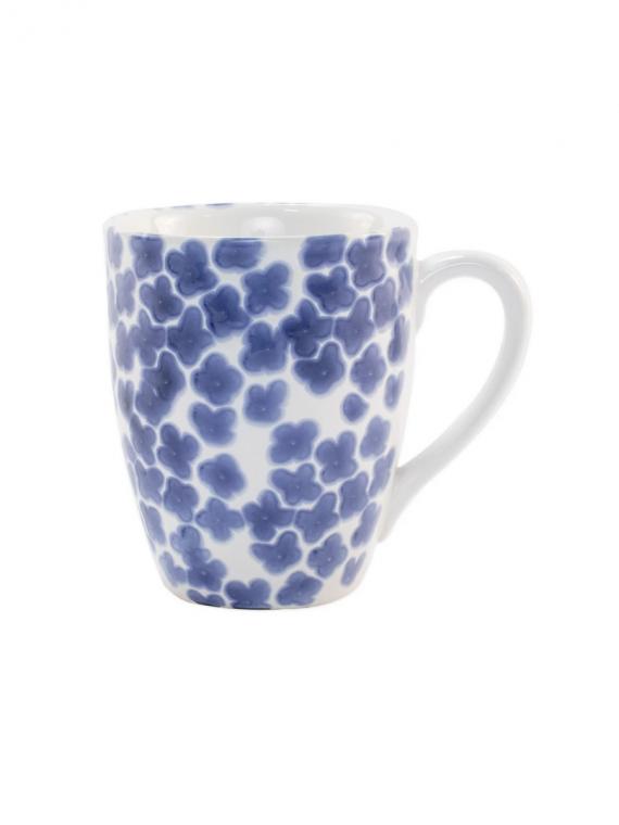 santorini flower mug