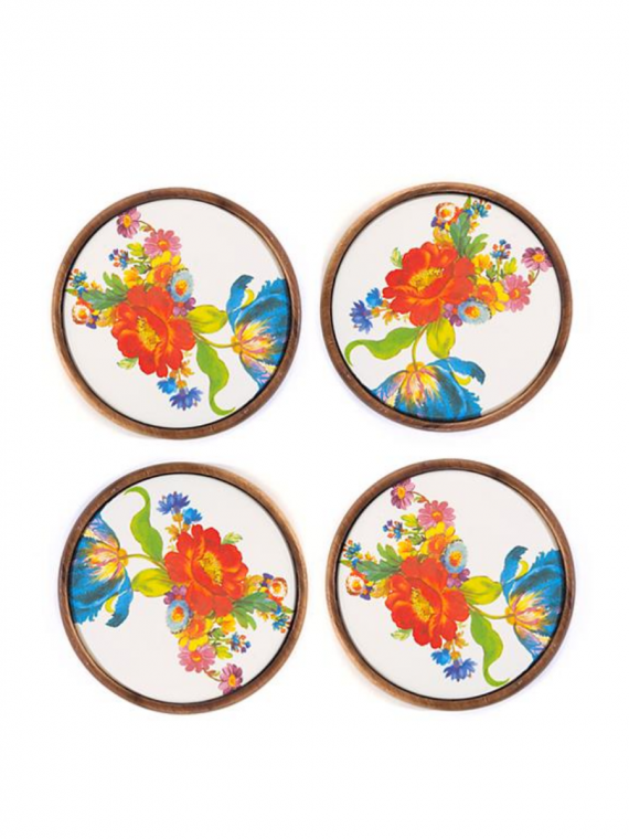 flower market coasters set