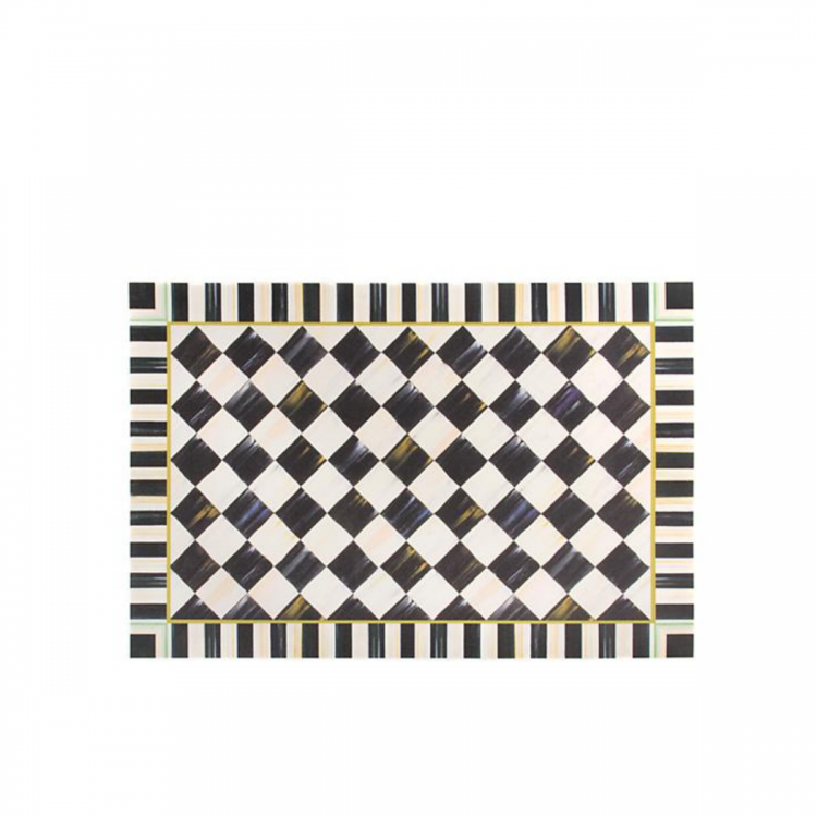 courtly check floor mat x