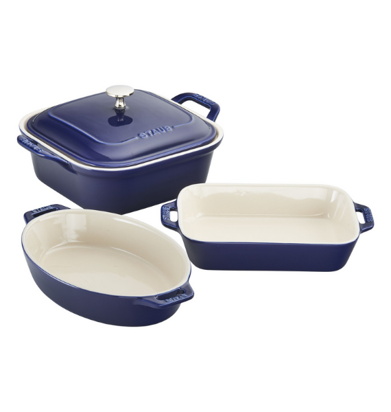 piece bake set blue